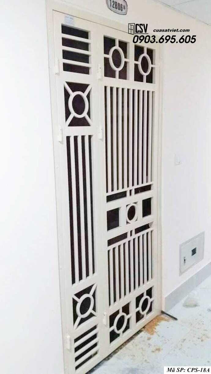 Mẫu cửa sắt chung cư đẹp CPS 18a