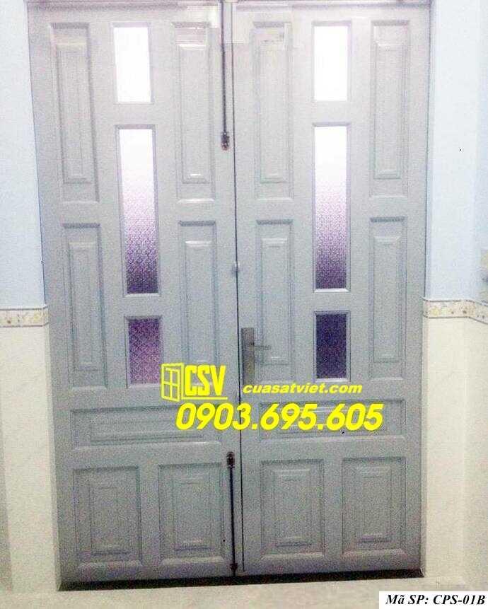 Mẫu cửa sắt kính CPS 01b