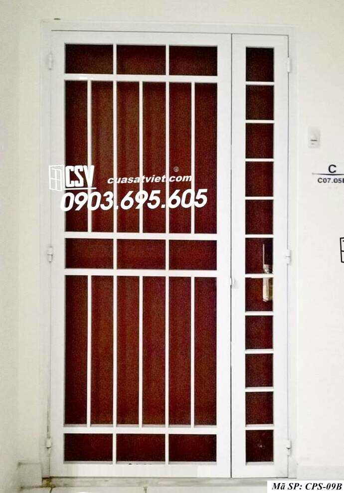 Mẫu cửa sắt chung cư đẹp CPS 09b