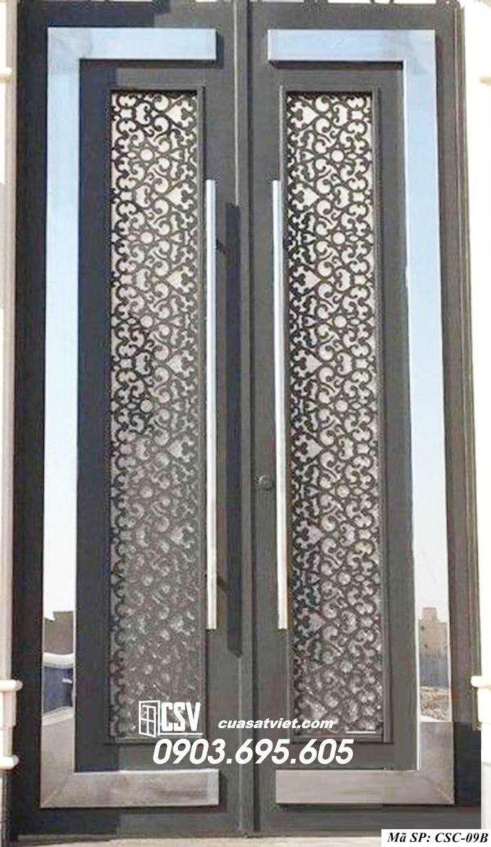 Mẫu cửa cổng sắt đẹp CSC 09B