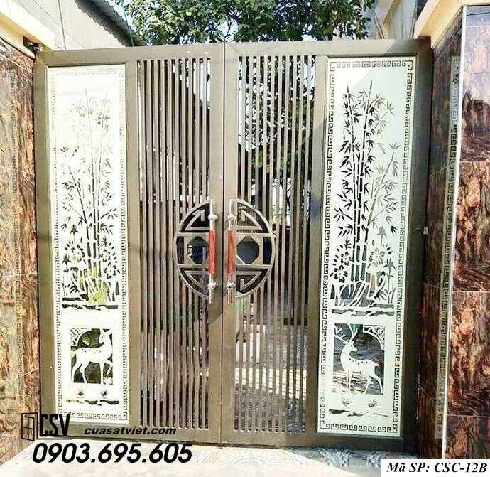 Mẫu cổng nhà đẹp CSC 12b