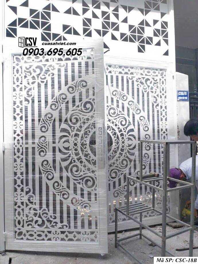 Mẫu cổng nhà đẹp CSC 18b