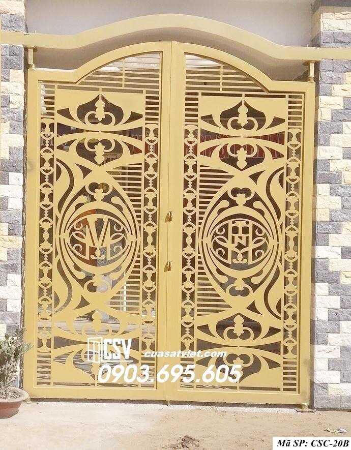 Mẫu cổng nhà đẹp CSC 20b