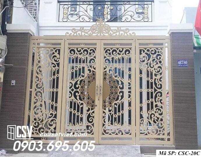 Mẫu cổng nhà đẹp CSC 20c