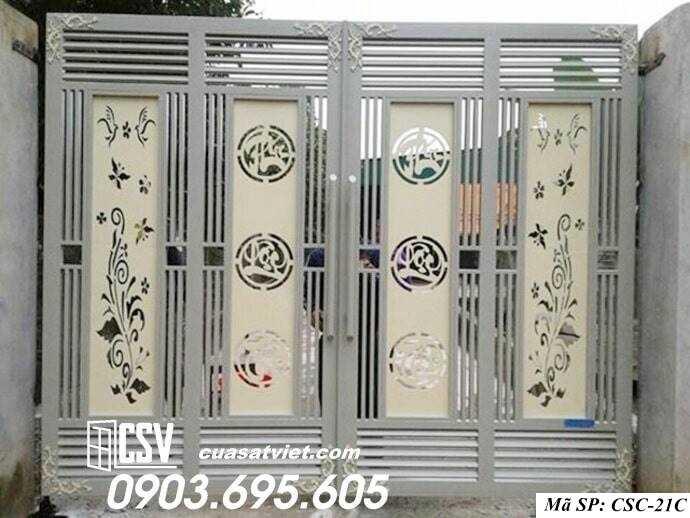 Mẫu cổng nhà đẹp CSC 21c