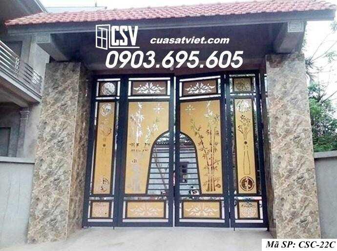 Mẫu cổng nhà đẹp CSC 22c