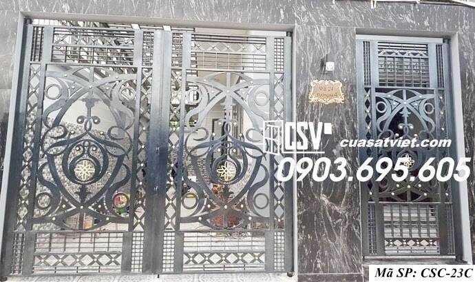 Mẫu cổng nhà đẹp CSC 23c