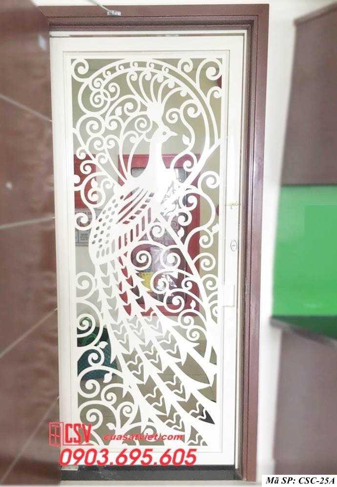 Mẫu cửa sắt chung cư đẹp CSC 25a