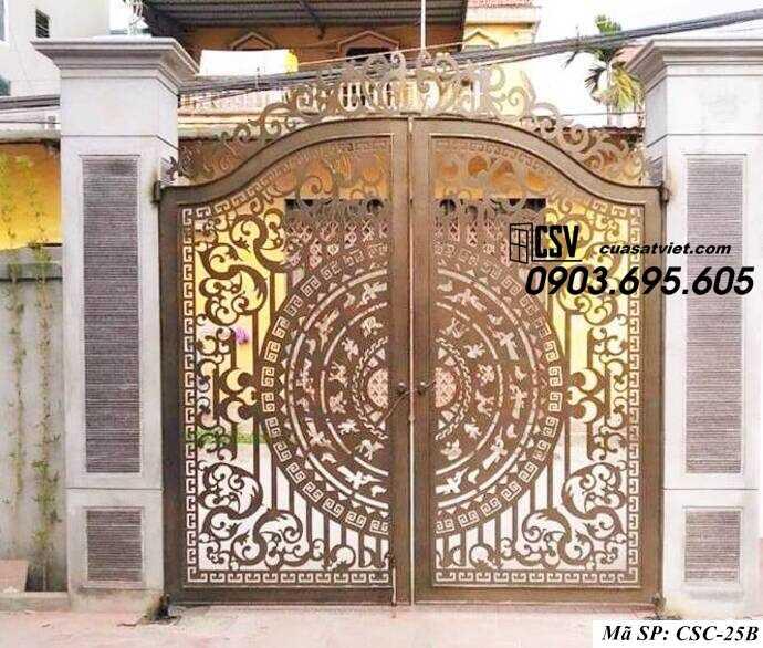 Mẫu cổng nhà đẹp CSC 25b