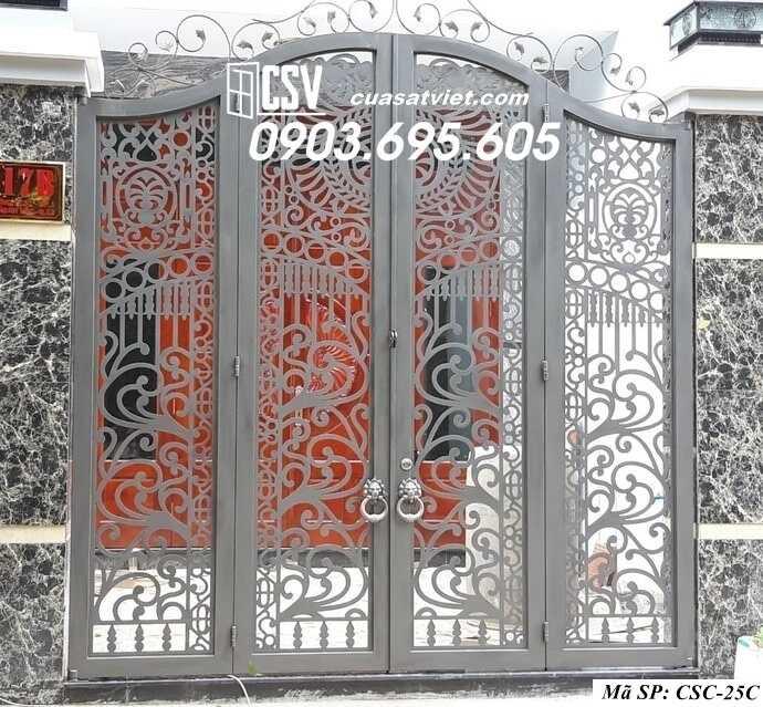 Mẫu cổng nhà đẹp CSC 25C
