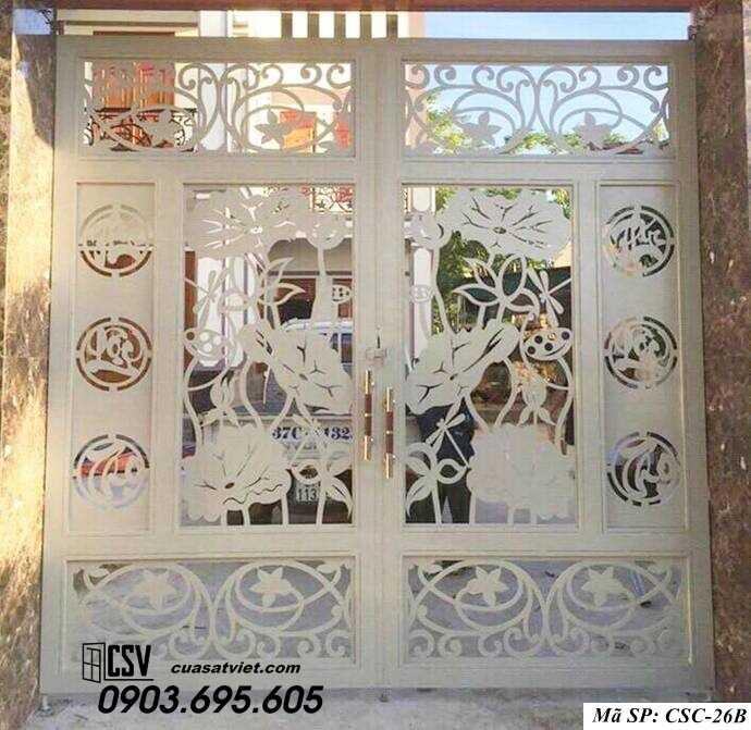 Mẫu cổng nhà đẹp CSC 26b