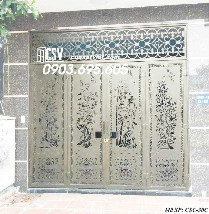 Mẫu cổng nhà đẹp CSC 30c