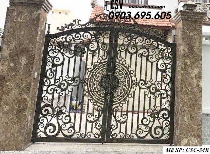 Mẫu cổng nhà đẹp CSC 34b