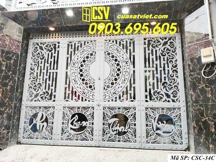 Mẫu cổng nhà đẹp CSC 34c