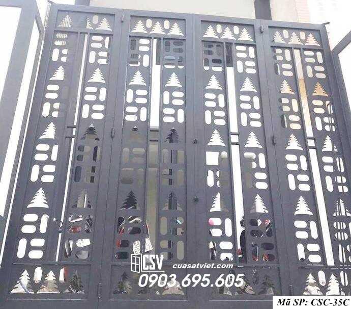 Mẫu cổng nhà đẹp CSC 35c