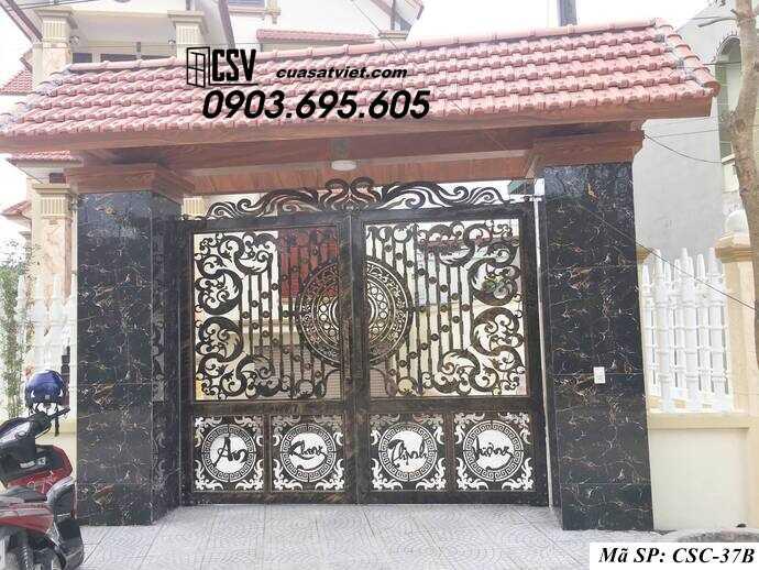 Mẫu cổng nhà đẹp CSC 37b