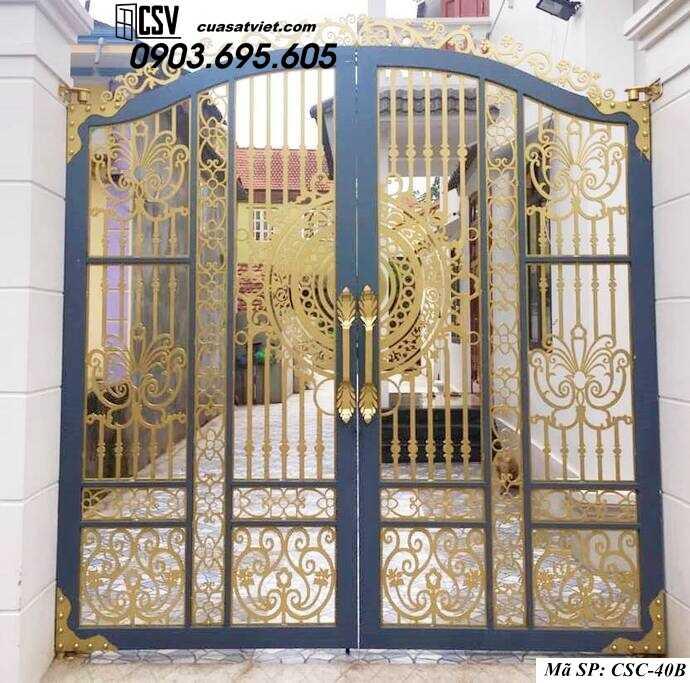 Mẫu cổng nhà đẹp CSC 40b