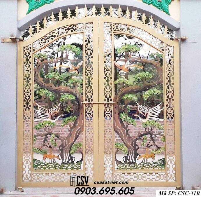 Mẫu cổng nhà đẹp CSC 41b