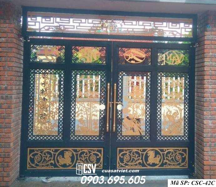 Mẫu cổng nhà đẹp CSC 42c