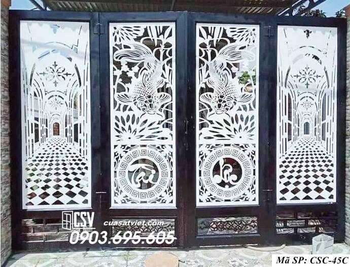 Mẫu cổng nhà đẹp CSC 45c