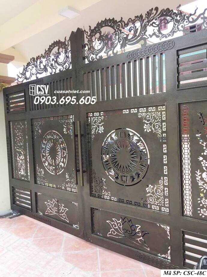 Mẫu cổng nhà đẹp CSC 48c
