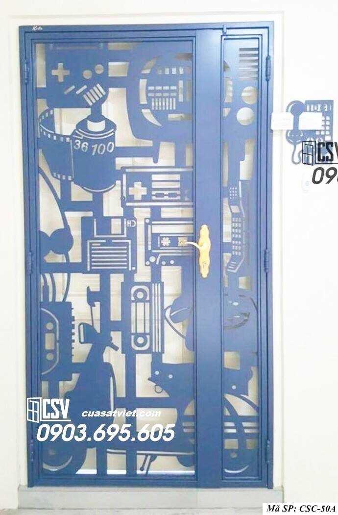 Mẫu cửa sắt chung cư đẹp CSC 50a