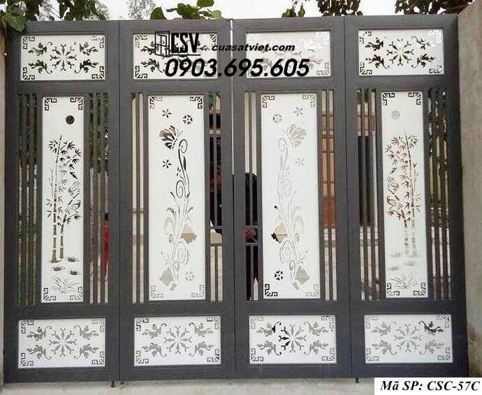 Mẫu cổng nhà đẹp CSC 57c