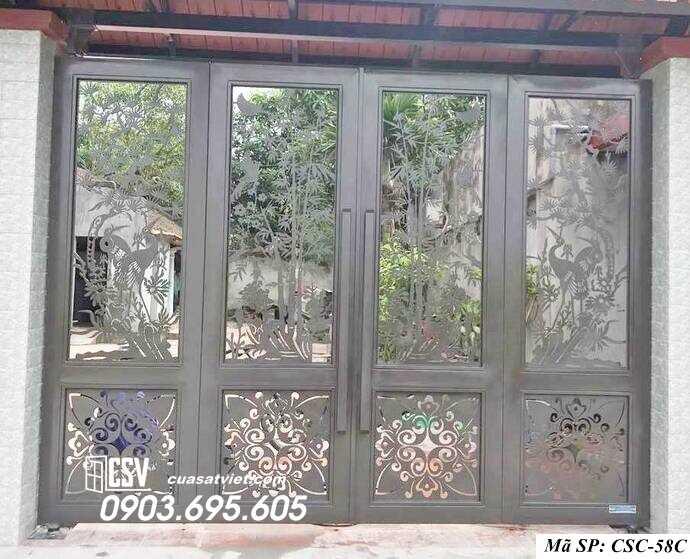 Mẫu cổng nhà đẹp CSC 58c