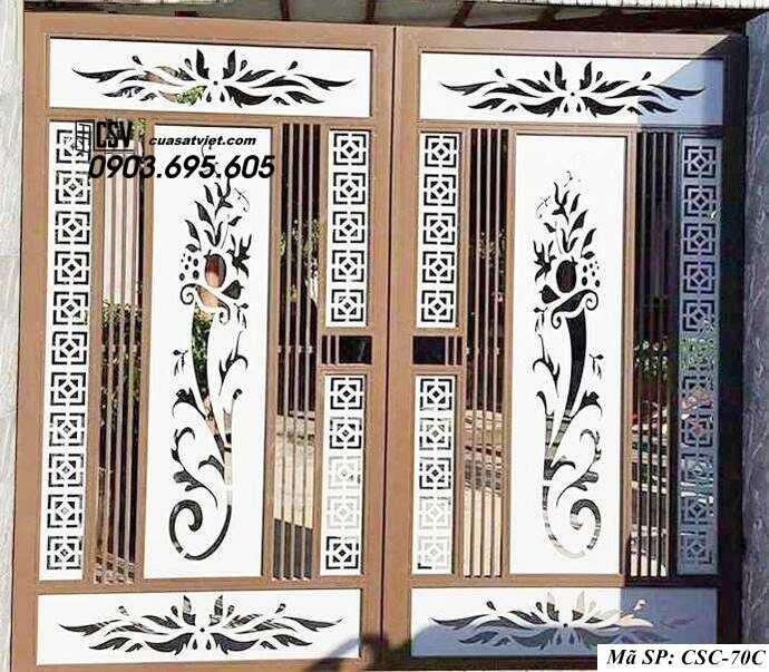 Mẫu cổng nhà đẹp CSC 70c