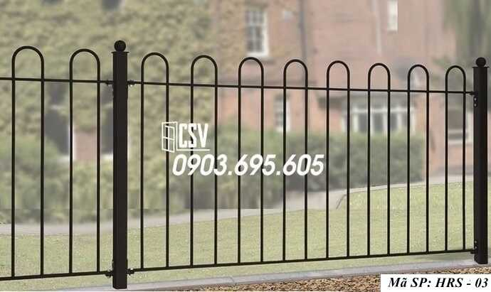 Mẫu hàng rào sắt đẹp HRS 03