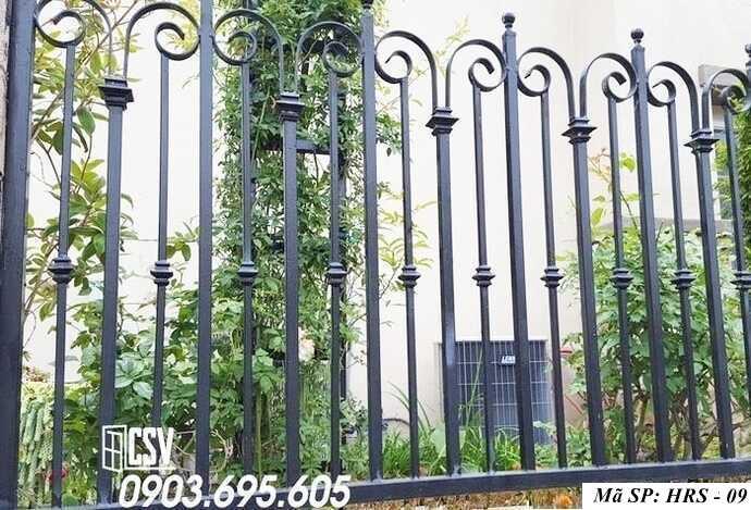 Mẫu hàng rào sắt đẹp HRS 09