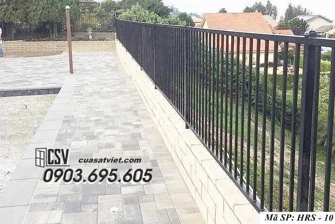 Mẫu hàng rào sắt đẹp HRS 10