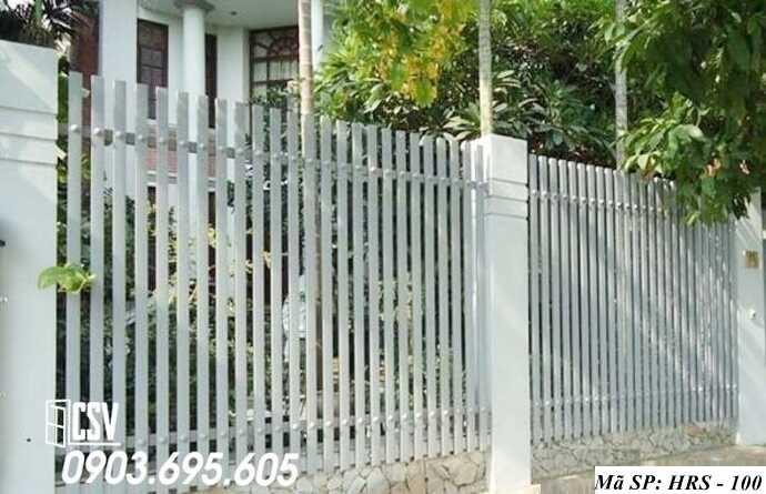 Mẫu hàng rào sắt đẹp HRS 100