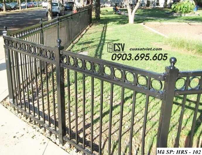 Mẫu hàng rào sắt đẹp HRS 102