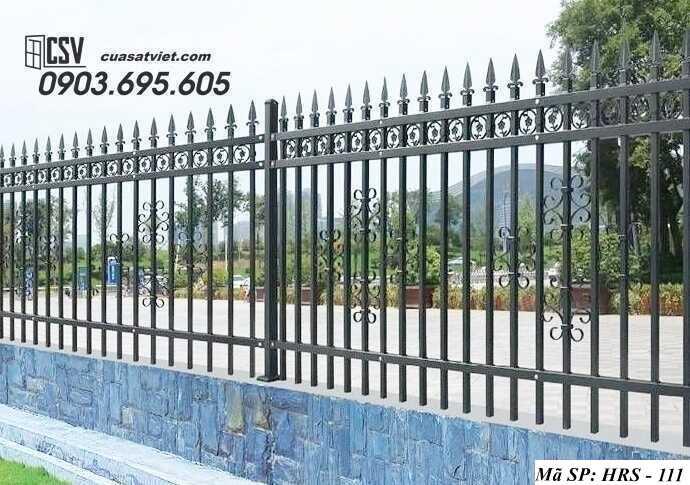 Mẫu hàng rào sắt đẹp HRS 111