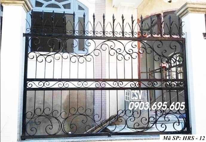 Mẫu hàng rào sắt đẹp HRS 12