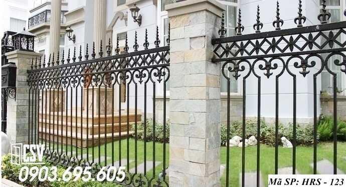Mẫu hàng rào sắt đẹp HRS 123