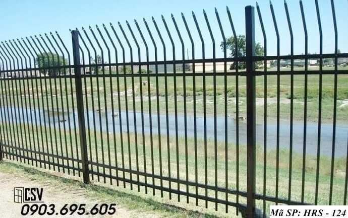 Mẫu hàng rào sắt đẹp HRS 124