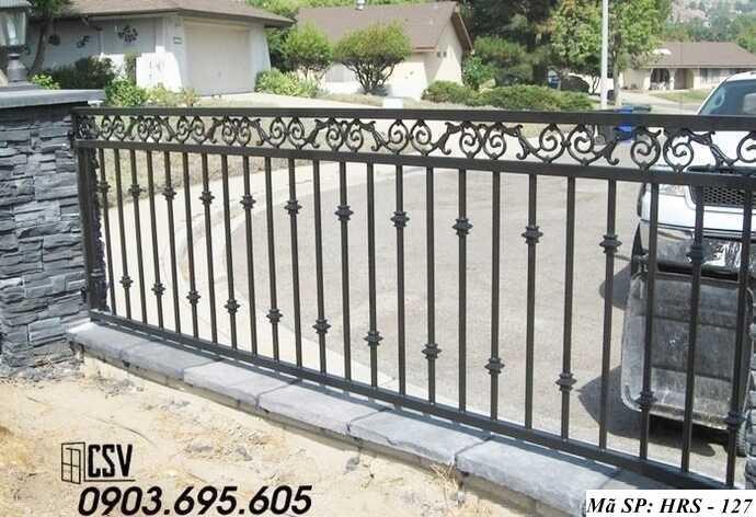 Mẫu hàng rào sắt đẹp HRS 127