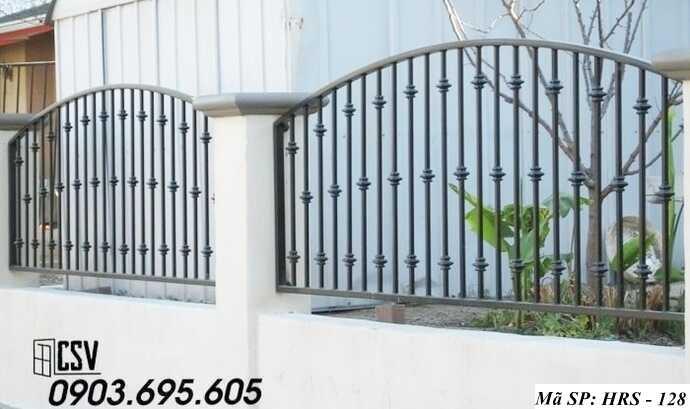 Mẫu hàng rào sắt đẹp HRS 128
