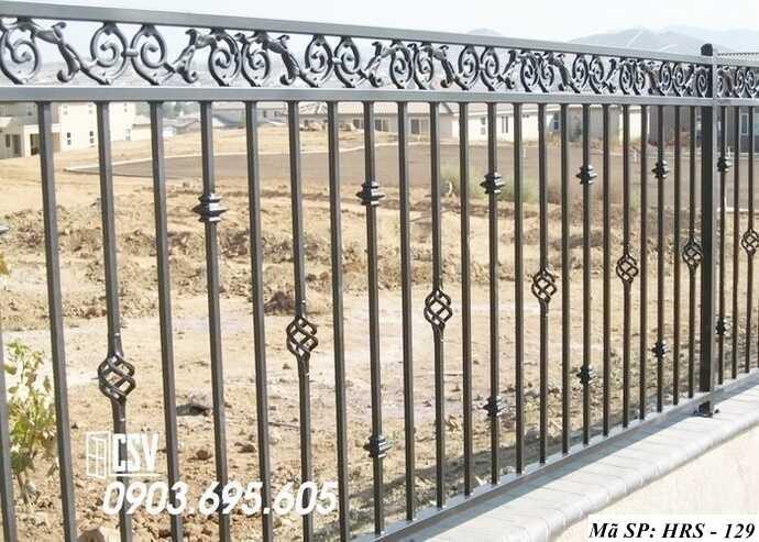 Mẫu hàng rào sắt đẹp HRS 129