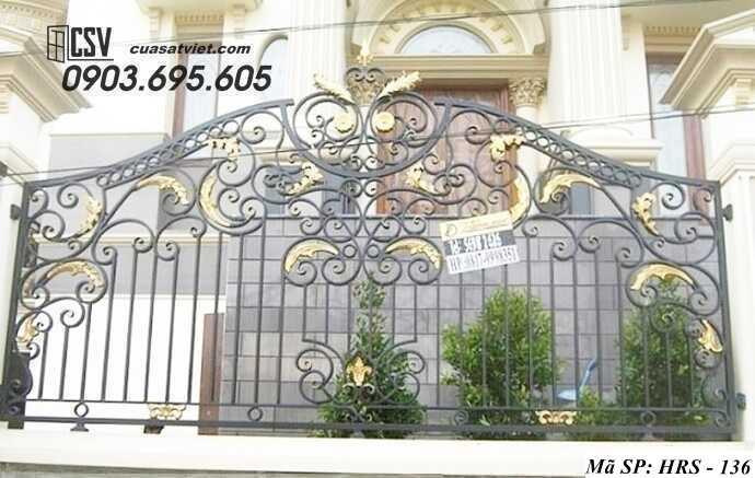 Mẫu hàng rào sắt đẹp HRS 136