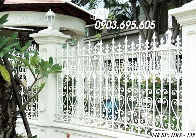 Mẫu hàng rào sắt đẹp HRS 138