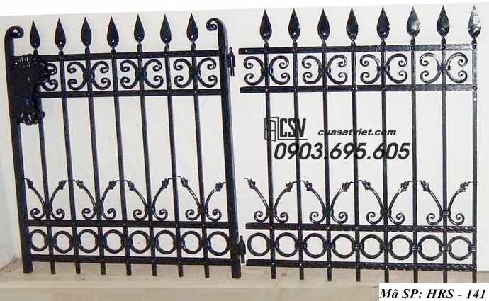 Mẫu hàng rào sắt đẹp HRS 141