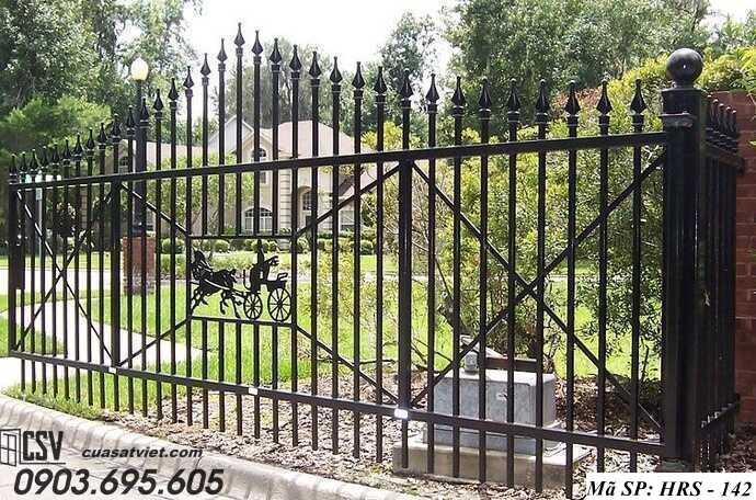 Mẫu hàng rào sắt đẹp HRS 142