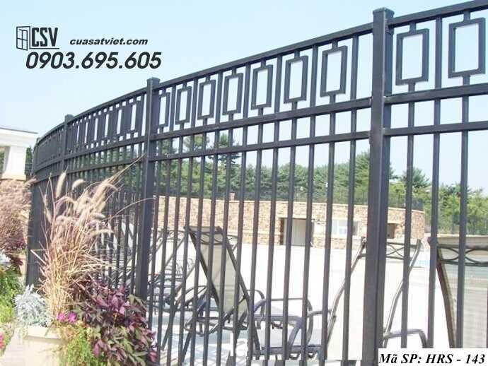 Mẫu hàng rào sắt đẹp HRS 143
