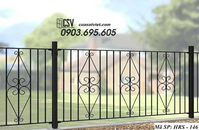 Mẫu hàng rào sắt đẹp HRS 146