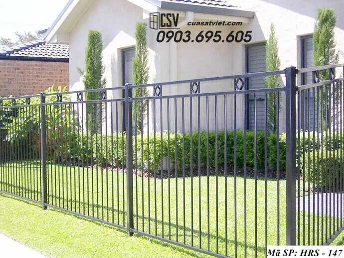 Mẫu hàng rào sắt đẹp HRS 147