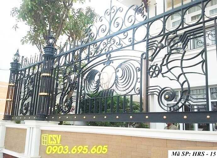 Mẫu hàng rào sắt đẹp HRS 15