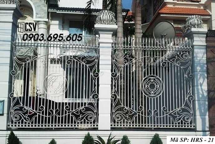 Mẫu hàng rào sắt đẹp HRS 21